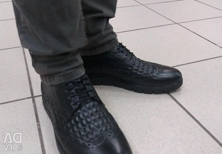 Brogue Shoes Genuine Leather