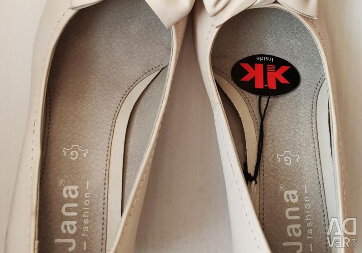 38 Jana Leather Shoes 4.5G