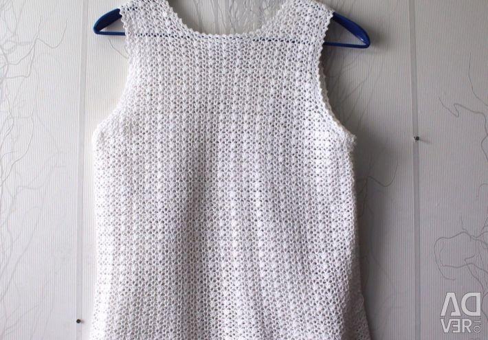 Λευκό πλεκτό πουκάμισο 46 M