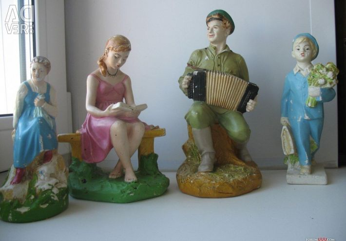 Figurines of the USSR 4pcs