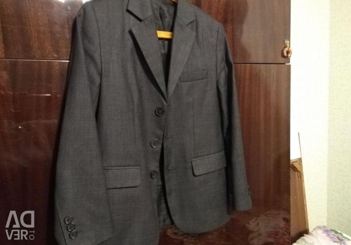 School jacket on the boy