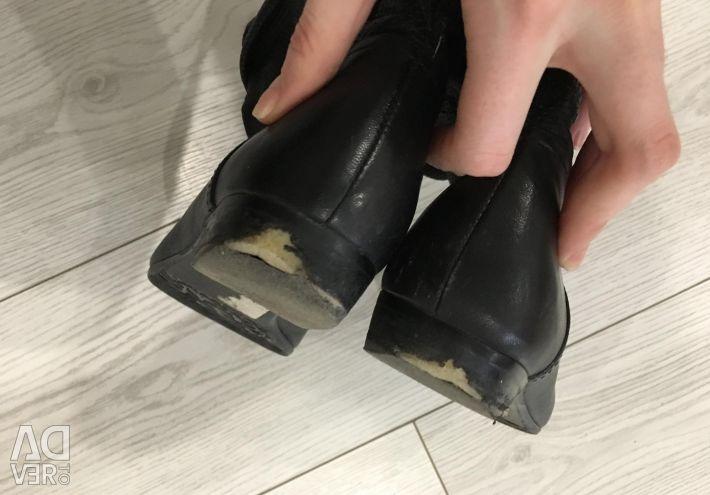 Pantofi din piele redus