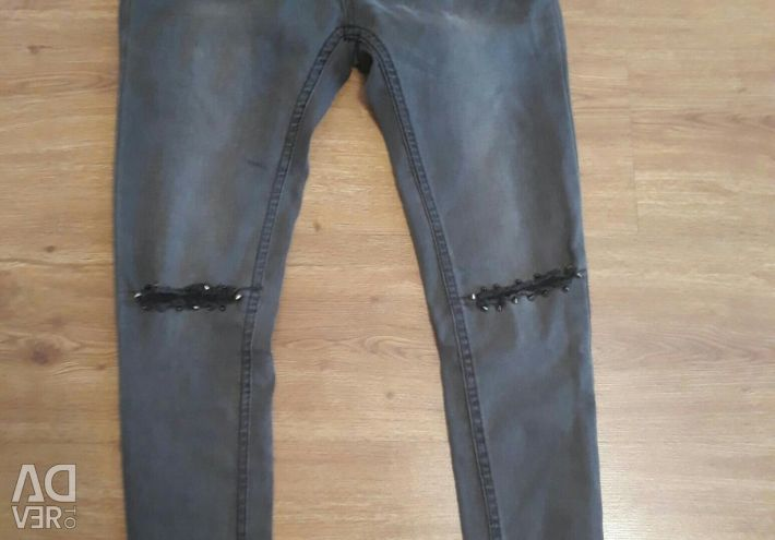 Jeans with spikes