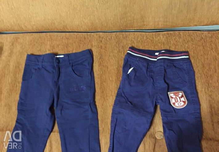 Pants and shorts for a boy for 2-3 years