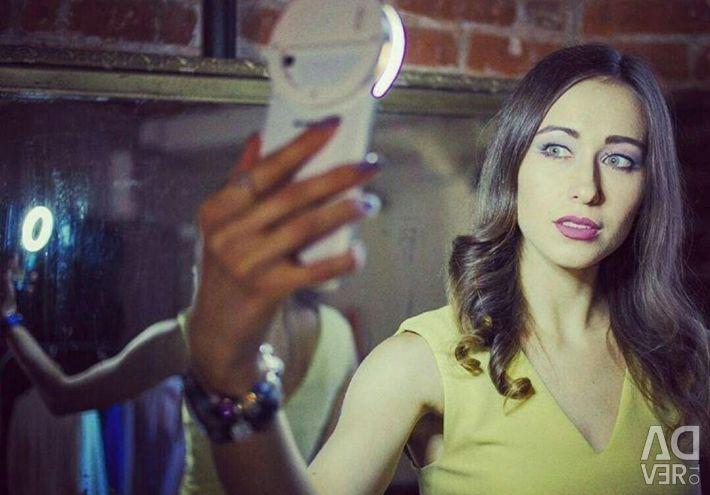Lamp ring for selfie