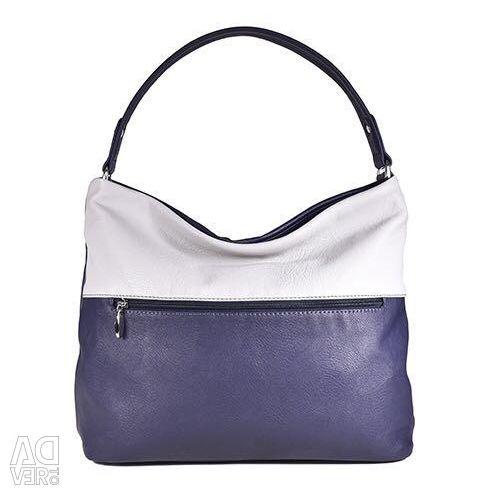 Γυναικεία τσάντα Μοντέλο 921 V Eco δέρμα / γκρι-μπλε