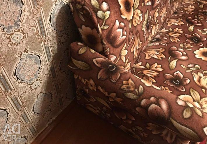 Sofa New book Brown Fleur