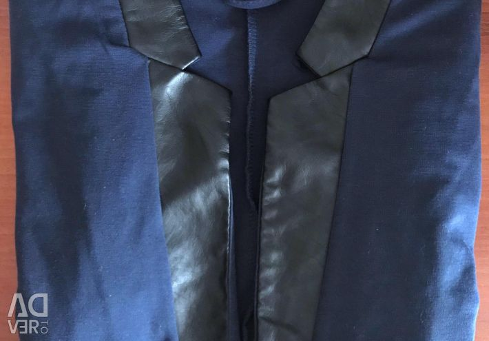 Jacket with leather inserts