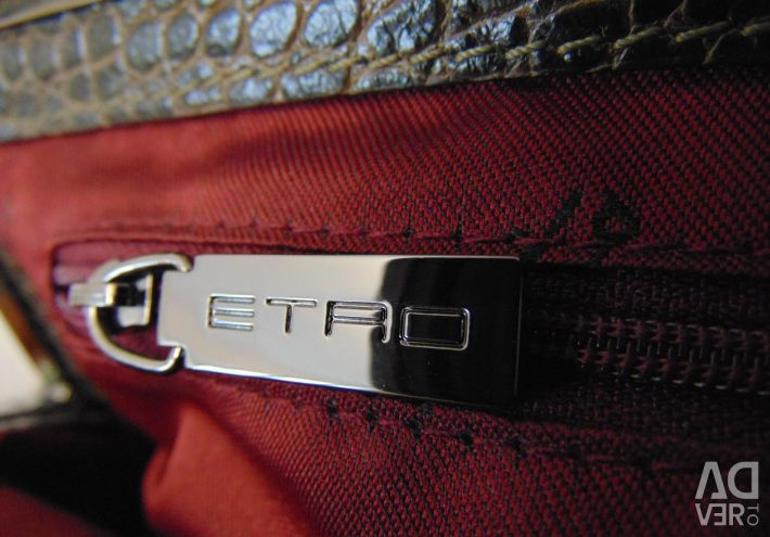 Bag genuine leather Kroko / Italy /