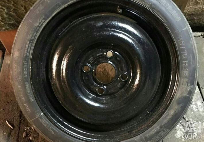Spare wheel (dokatka) on Audi, Volkswagen