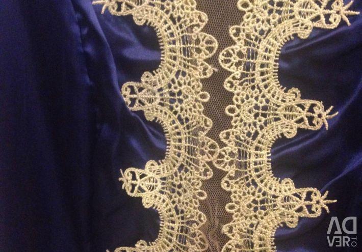 Φόρεμα 👗 σατέν και πλέγμα