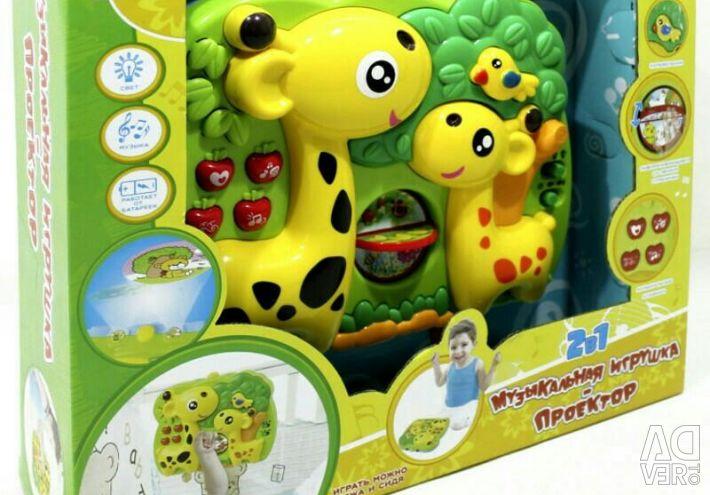 3 в 1: ночник, проектор, игрушка новый