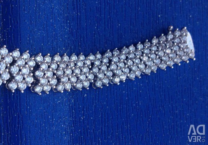 Necklace Silver with zirconia