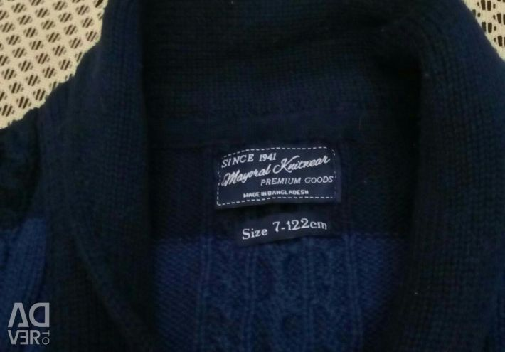 Cardigan for a boy of 7 years, Spain.