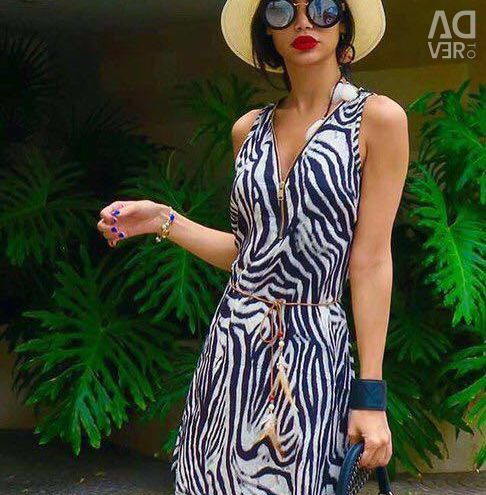 Yeni İtalyan elbisesi% 100 ipek