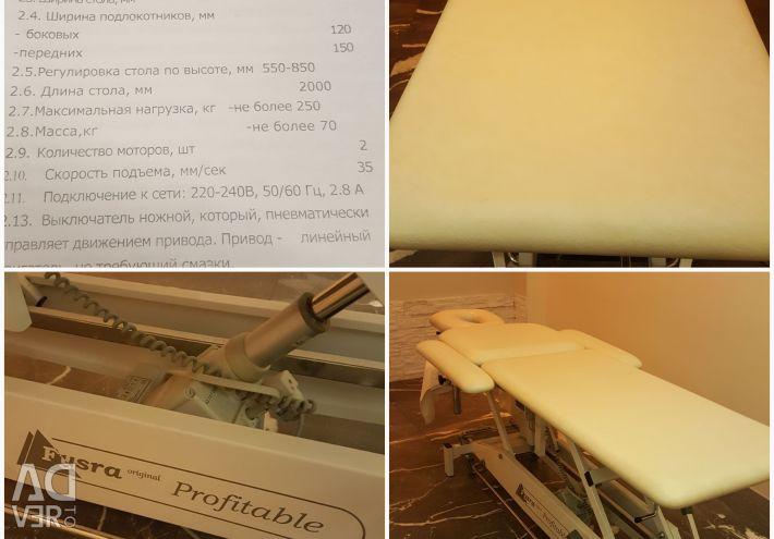 Massage table fysra OY model 2E6 Profitable