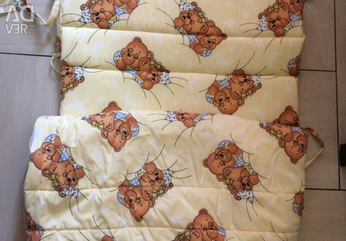 Set of bed linen in the bed