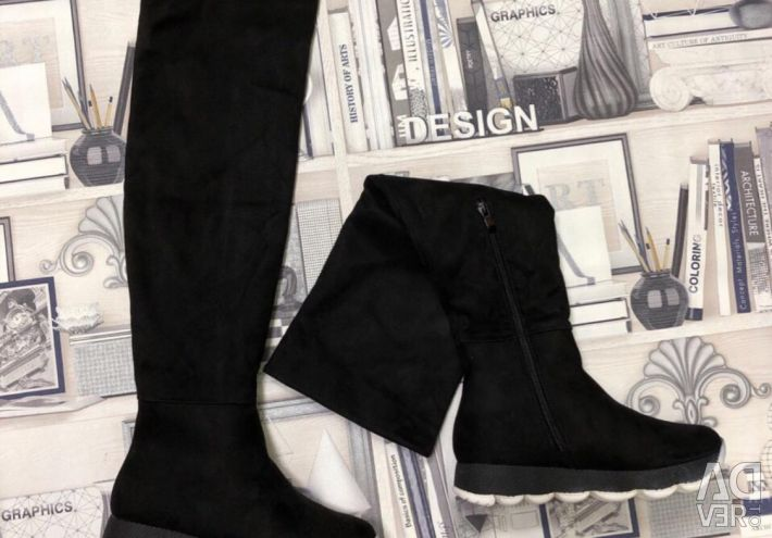 Жіночі чоботи ботфорти зимові
