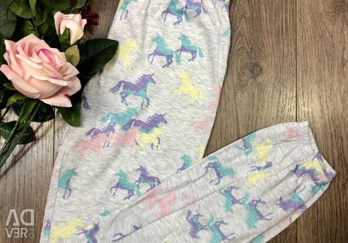 Pantaloni pijama noi dimensiuni 146/152