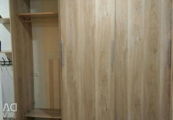 Sliding wardrobe built-in 222sh * 260v * 62g 3-wing