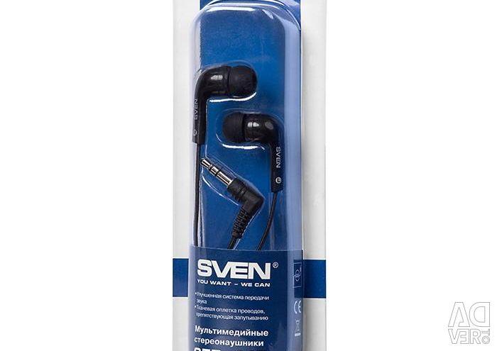 Ακουστικά Sven SEB-115 στην πλεξίδα 1.2 m νέα