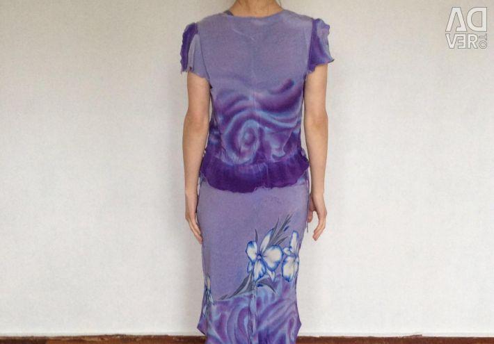 Costumul autorului, baticul, pictura pe mătase