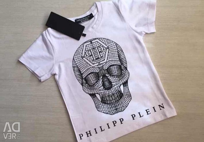 New white T-shirt, sizes 2-7 years