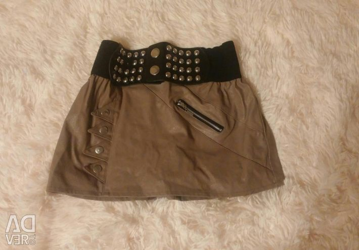 Skirt short with rivets under the skin S