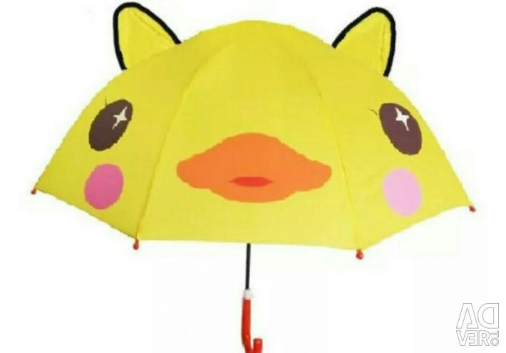 Children's umbrella with ears for girls