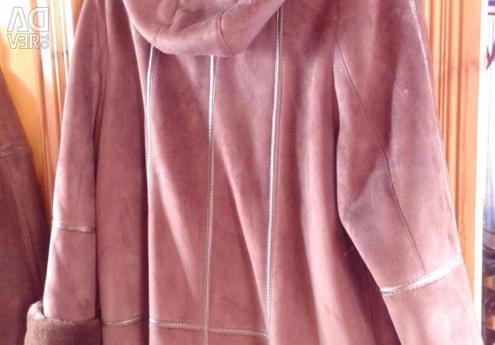 Sheepskin coat artificial with natural fur