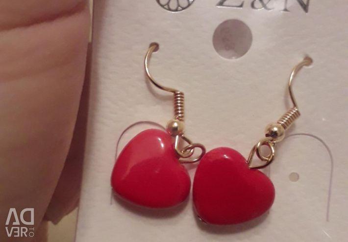 Нові сережки сердечка