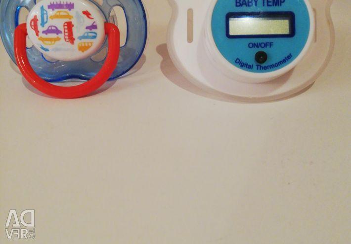 Пустышка и пустышка-термометр