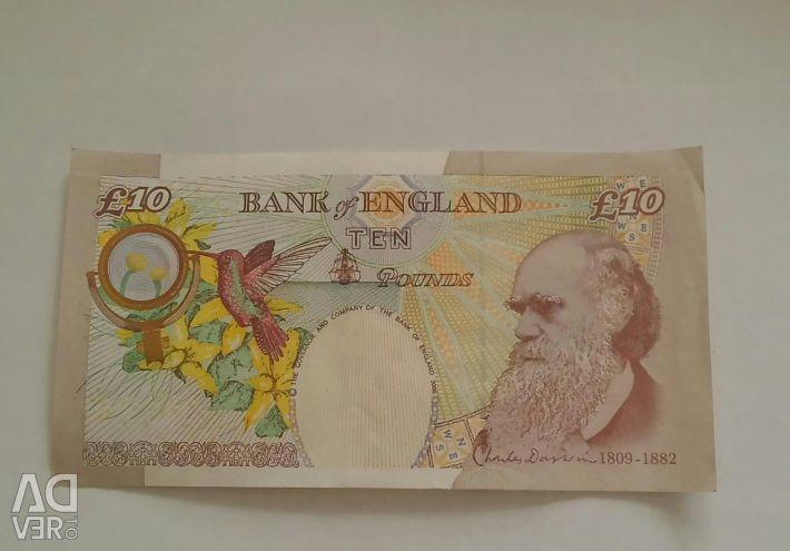 Τραπεζογραμμάτιο 10 λίβρες. Μεγάλη Βρετανία