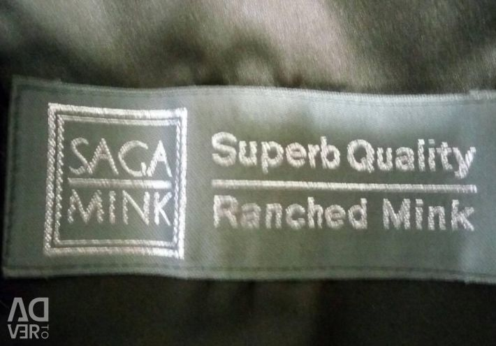 Blana de blana de saga mink Superb Quality Ranched Mink. B / Y