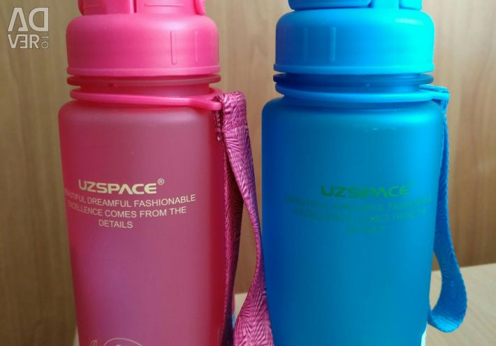 Drinking bottle for adults and children (pink)