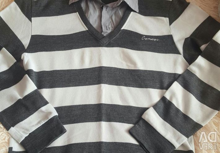 Package of things: polo t-shirt stever pullover sweater