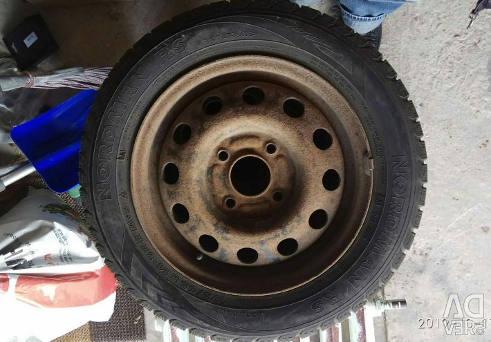 Winter tires not spike with stamped wheels