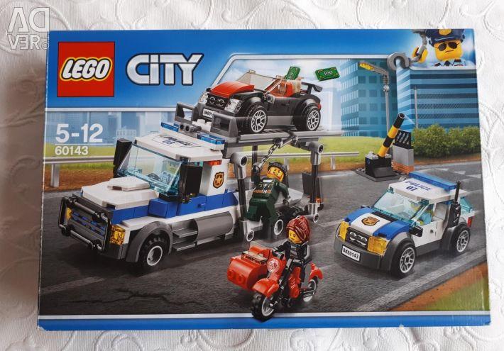 Лего сити 60143, коробка, инструкция, все детали