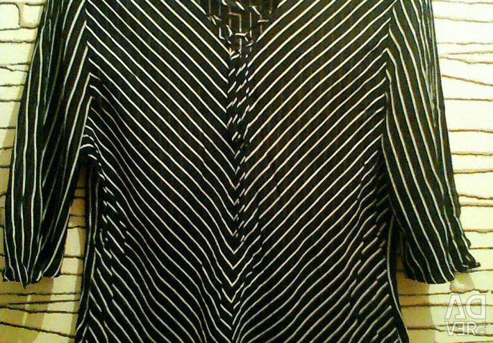 Γυναικεία φυσική μπλούζα από μετάξι