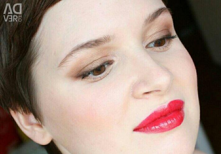 Lipstick, cherry color