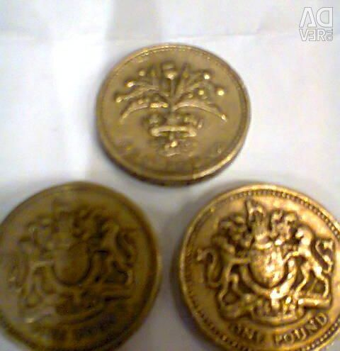 UK pound two pounds.