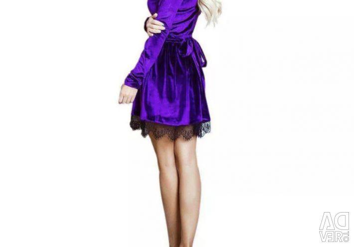 Φόρεμα βελούδο / δαντέλα