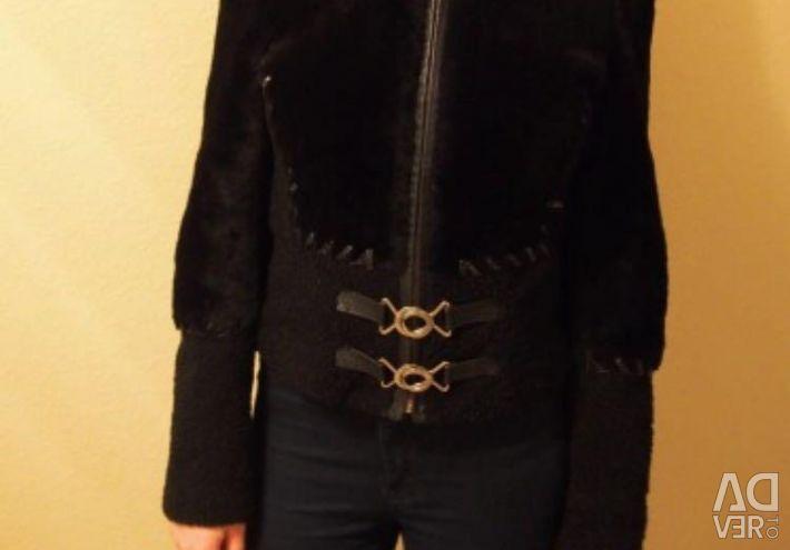 Original jacket with natural fur