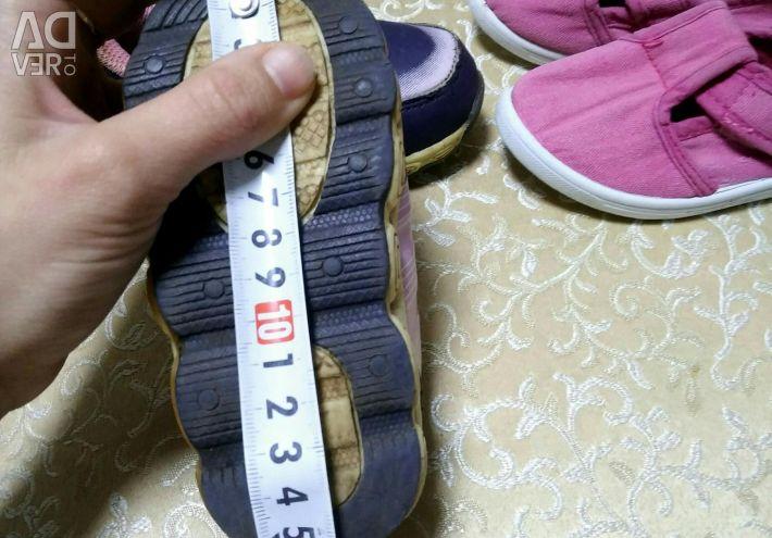 Αντρικά παπούτσια, παπούτσια για κορίτσια 22-23r