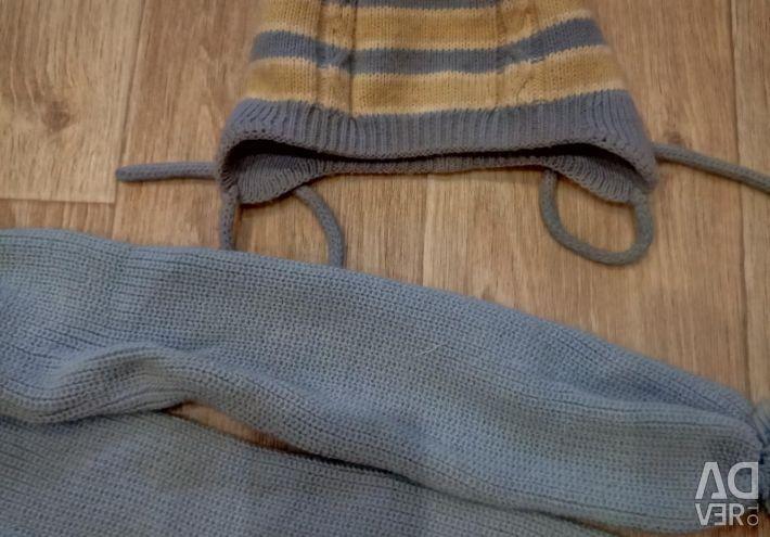 Set of cap + scarf six