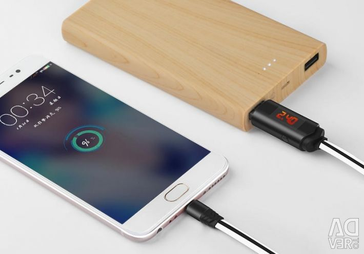 Micro USB cable with display and timer