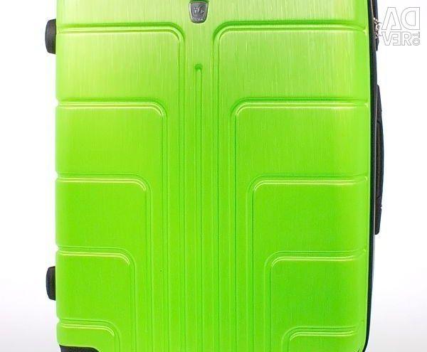 Valiza de plastic luyida verde stralucitor 75 cm