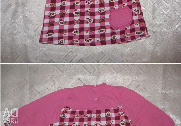 1-2 yaş kız için ceket, pantolon ve elbise