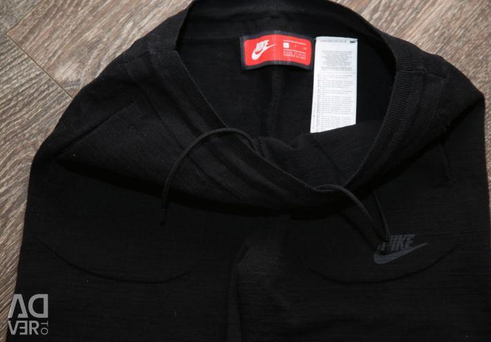 Ασύρματο μαύρο παντελόνι Nike Knit Track Pants