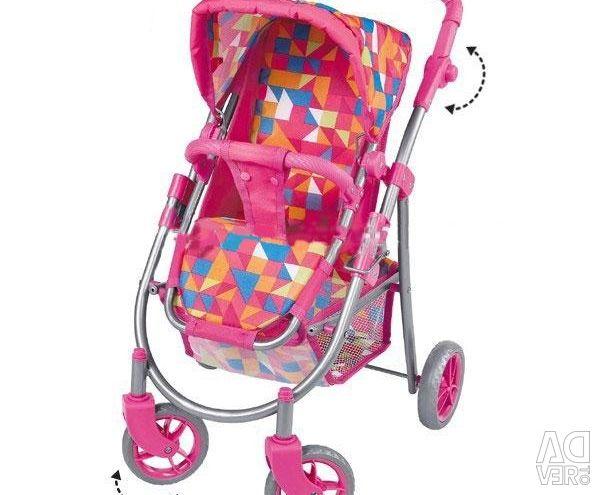 Noul 8180-1 păpușă cu trei roți cărucior roz